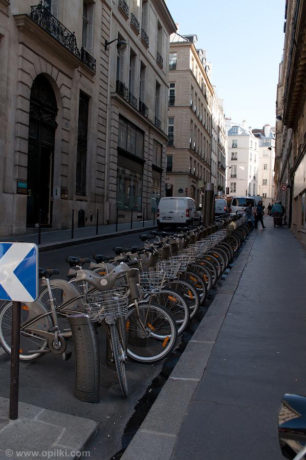Сеть парижских городских велосипедов